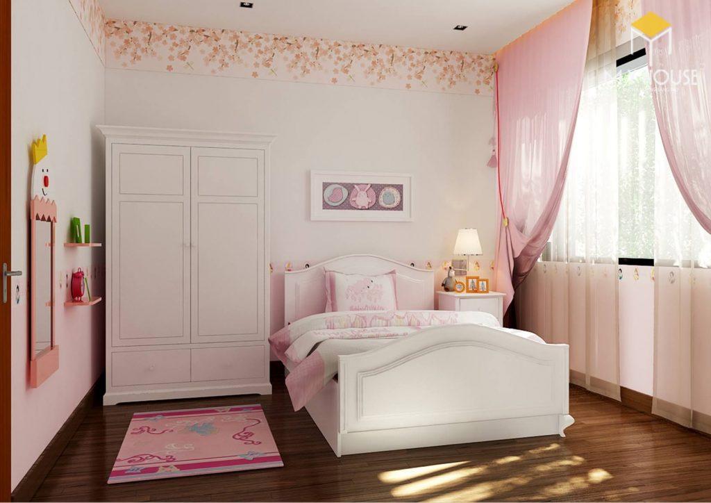 Nội thất phòng ngủ bé gái - View 2