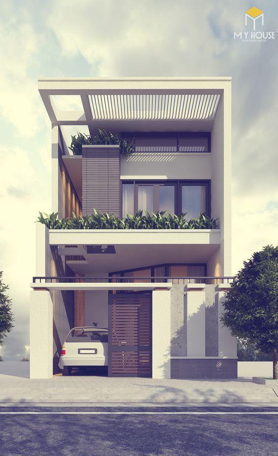 Mẫu nhà phố 2 tầng 5x20 hiện đại