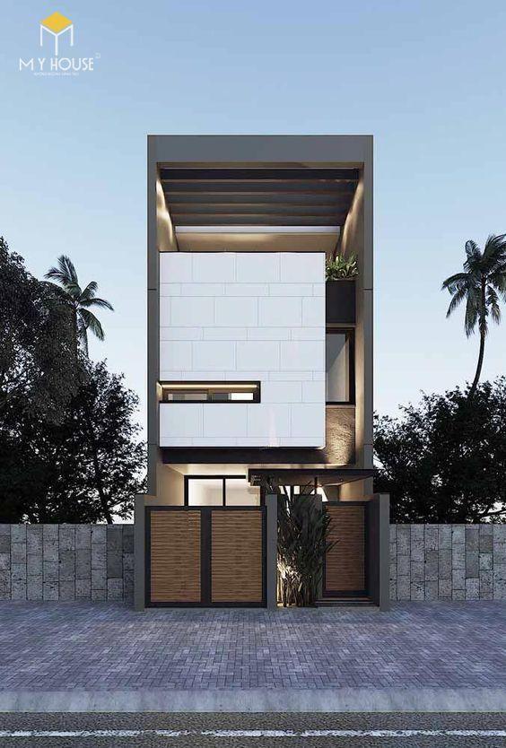Nhà đẹp 3 tầng 5x12m hiện đại - Mẫu 1