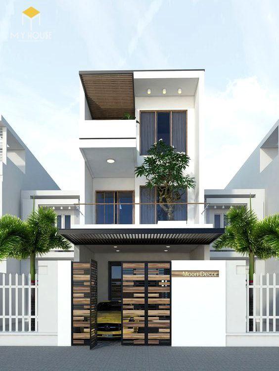 Nhà đẹp 3 tầng 5x12m không gian mở - Mẫu 3