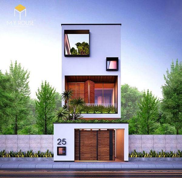 Nhà đẹp 3 tầng 5x12m không gian mở - Mẫu 4