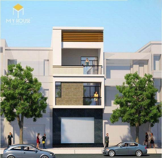 Nhà đẹp 3 tầng 5x12m hiện đại - Mẫu 2