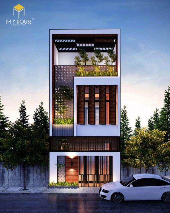 Nhà đẹp 3 tầng không gian mở - Mẫu 11