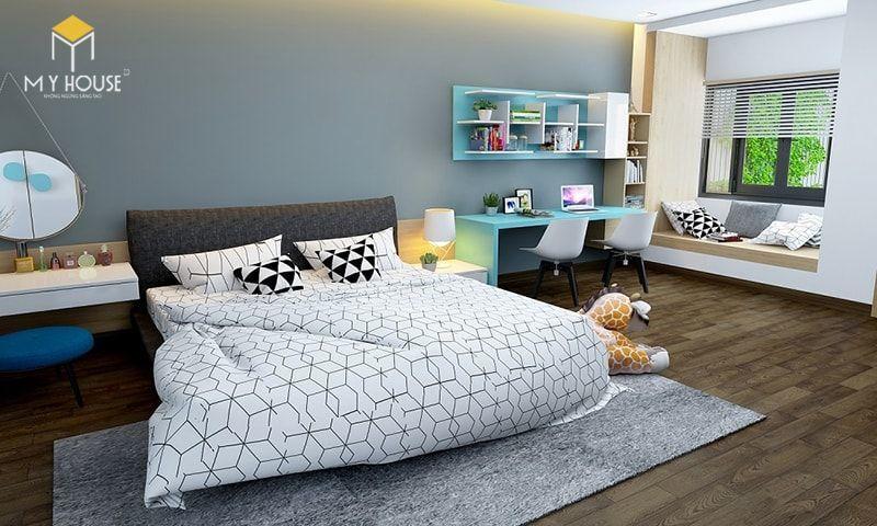Phòng ngủ con với tông màu sáng - View 2