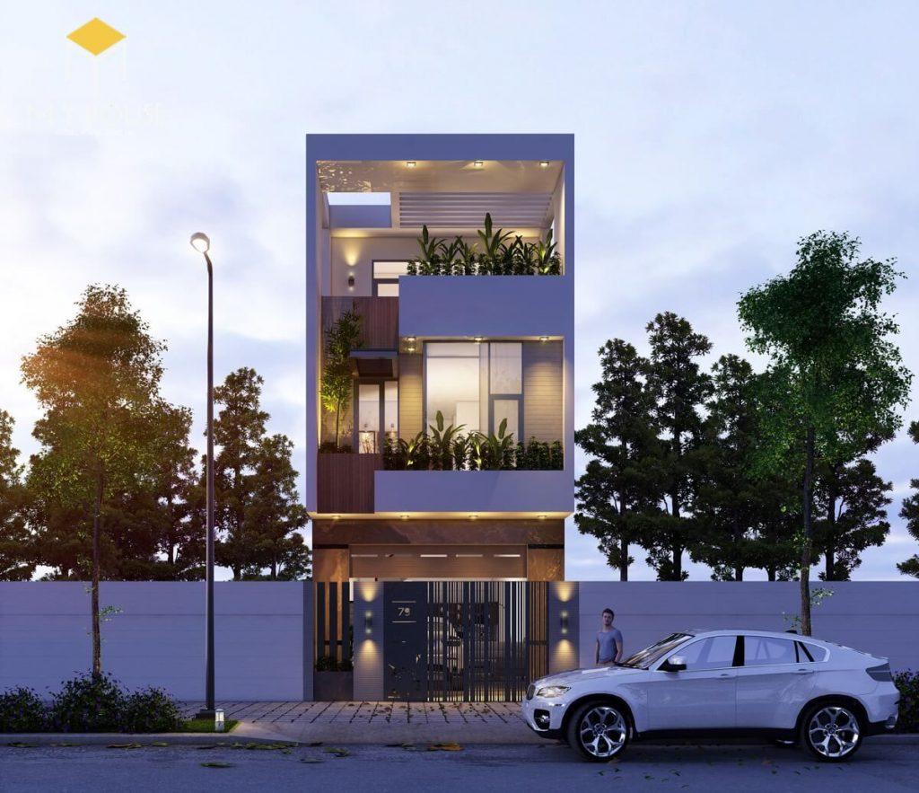 Nhà đẹp 3 tầng 5x12m hiện đại - Mẫu 3