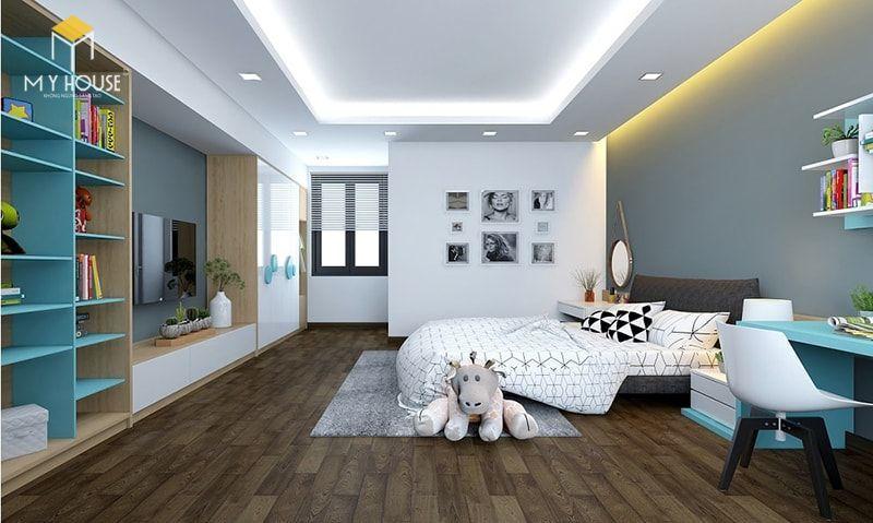 Phòng ngủ con với tông màu sáng - View 1