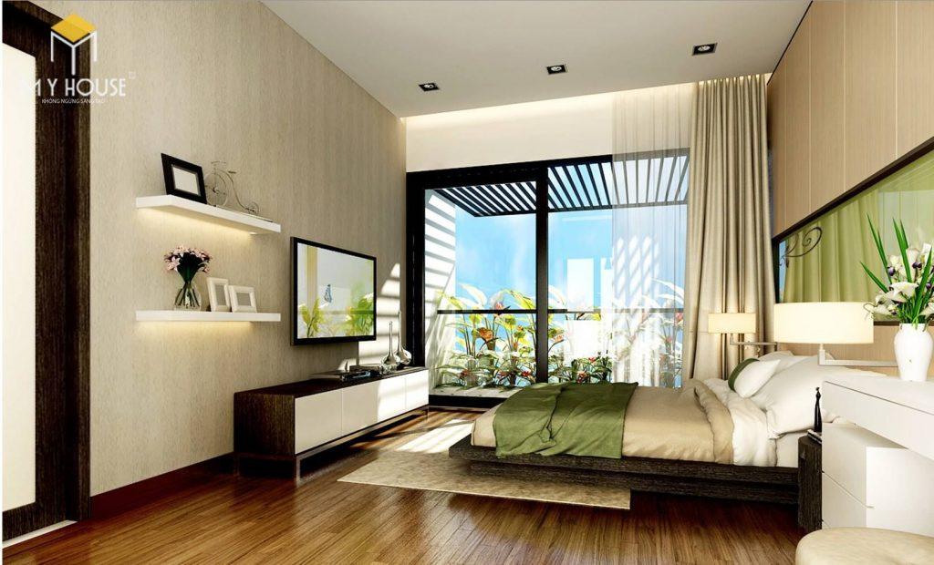 Phòng ngủ với không gian xanh tinh tế - View 2