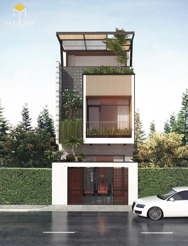 Nhà đẹp 3 tầng hiện đại - Mẫu 6