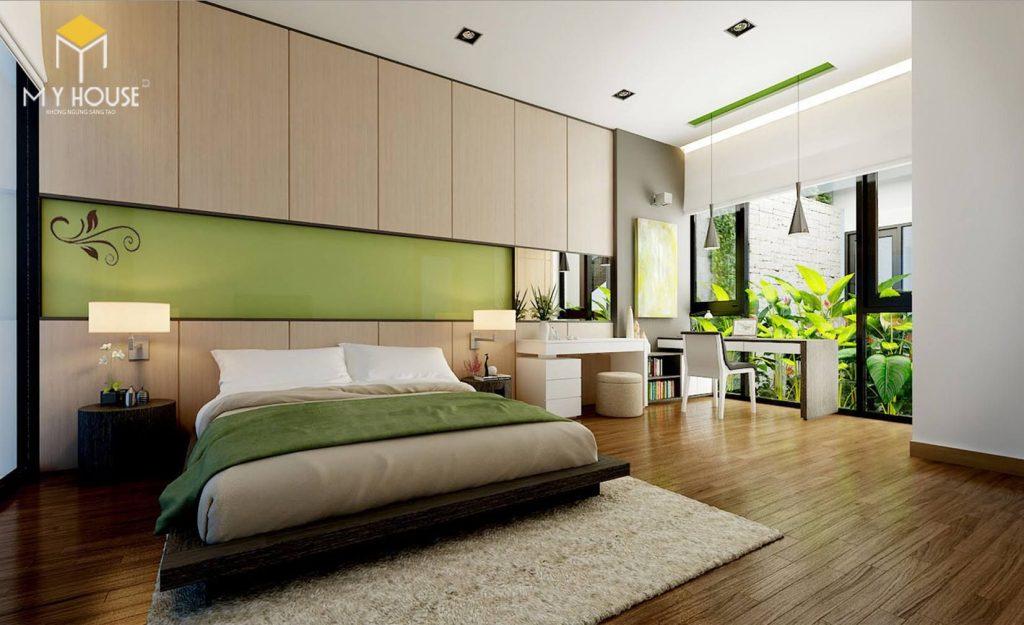 Phòng ngủ với không gian xanh tinh tế - View 1