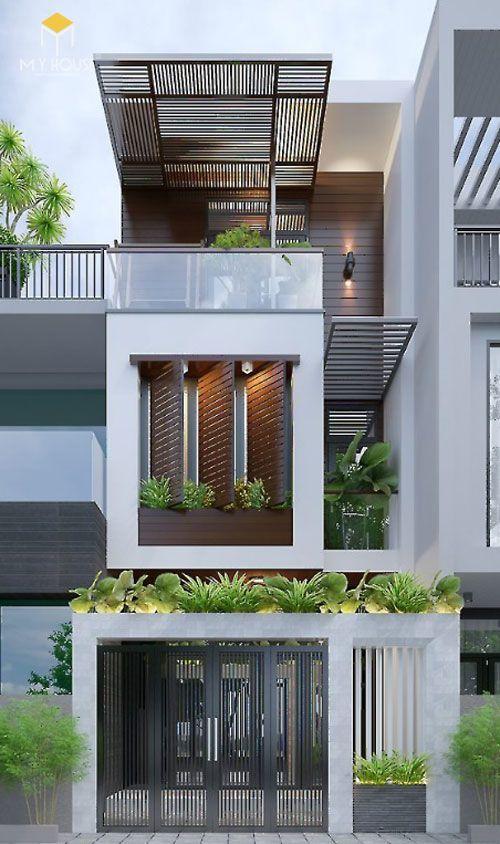 Nhà đẹp 3 tầng 5x12m không gian mở - Mẫu 1