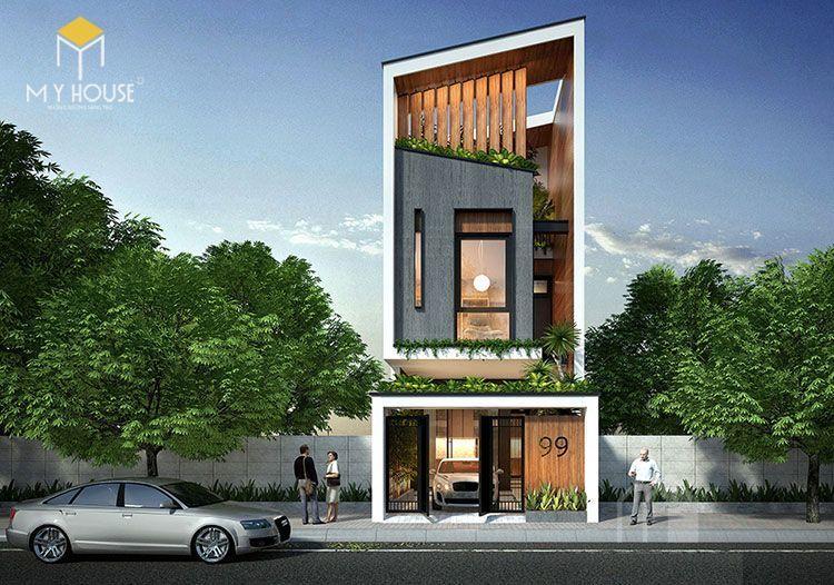 Nhà đẹp 3 tầng 5x12m không gian mở - Mẫu 2