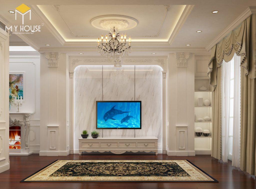 Phòng khách thiết kế sang trọng tinh tế - View 2