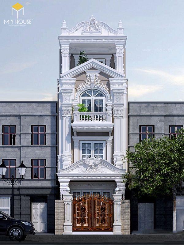 Mặt tiền nhà phố kiến trúc pháp