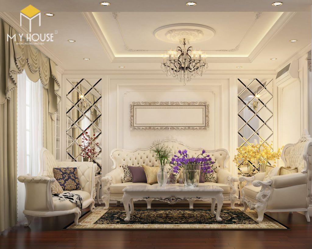 Phòng khách thiết kế sang trọng tinh tế - View 1
