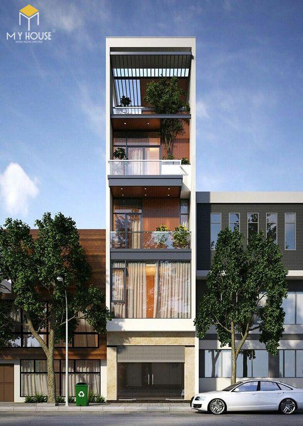 Thiết kế 4 tầng hiện đại