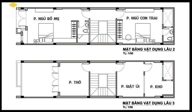 Mặt bằng lầu 2 - tầng tum