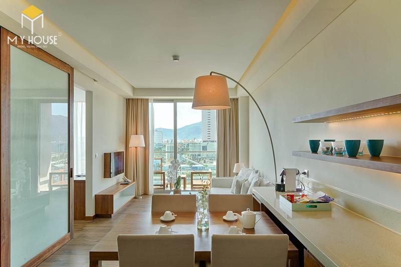 Phòng khách nhỏ gọn đảm bảo đầy đủ công năng thẩm mỹ