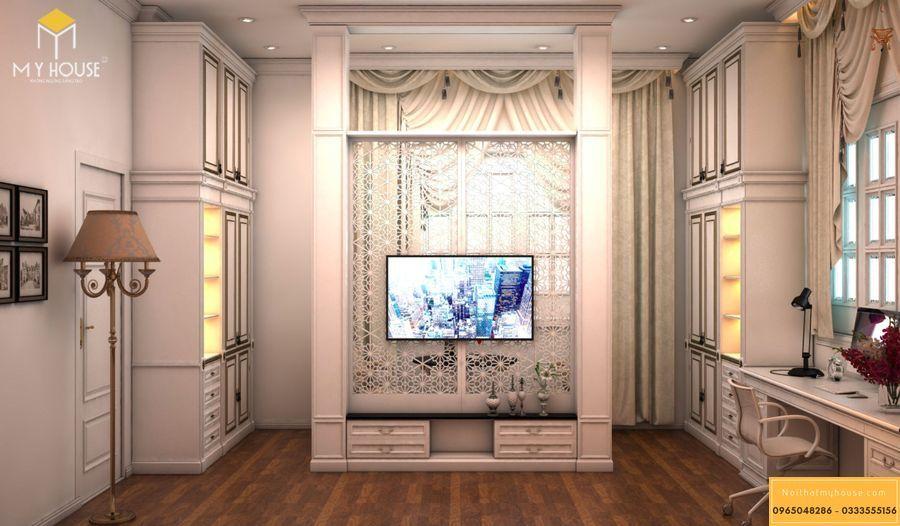 Nội thất phòng ngủ master của nhà cấp 4 kiểu Pháp - View 4