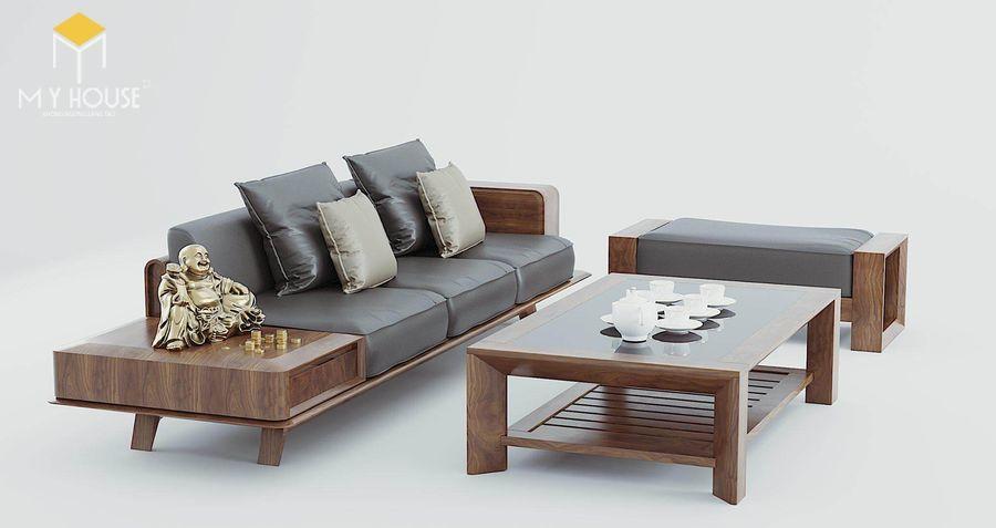 Bộ bàn ghế sofa gỗ óc chó