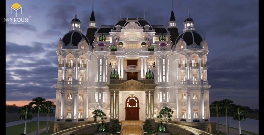 Thiết kế biệt thự lâu đài đẹp - Mẫu 11