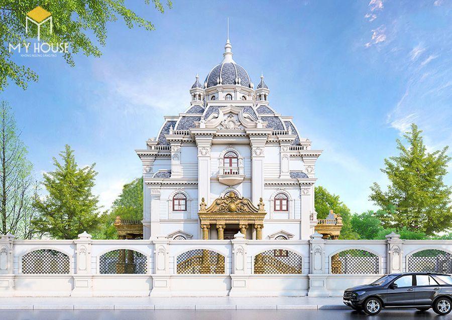Thiết kế lâu đài dinh thự đẹp - Mẫu 2