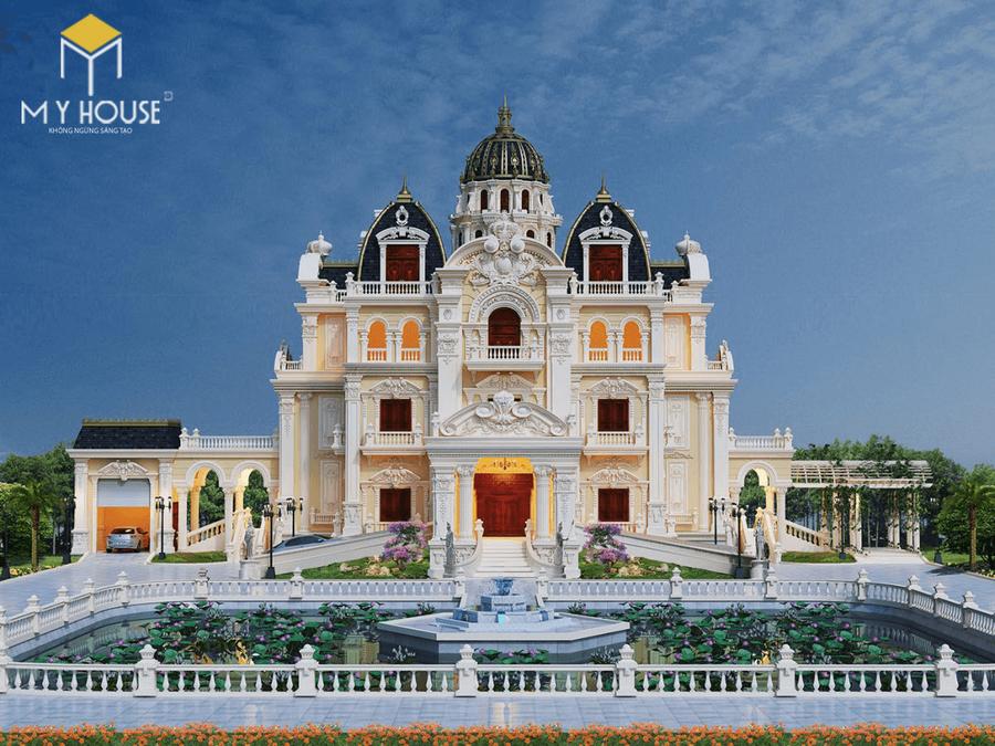 Thiết kế lâu đài dinh thự đẹp - Mẫu 1