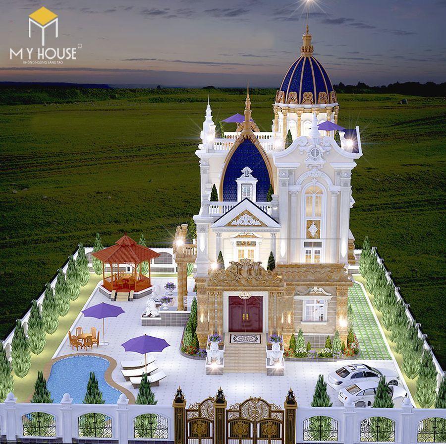 Thiết kế lâu đài dinh thự đẹp - Mẫu 10