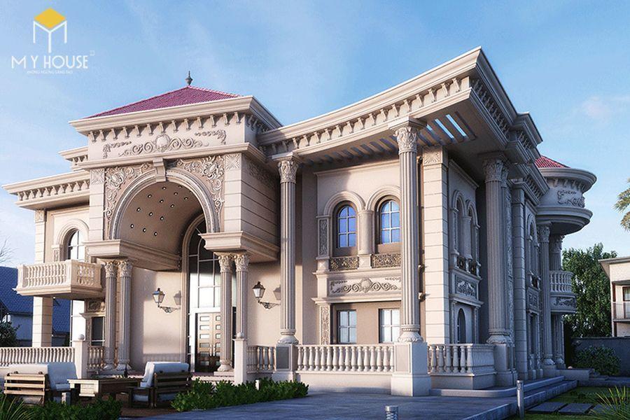 Thiết kế lâu đài dinh thự đẹp - Mẫu 9