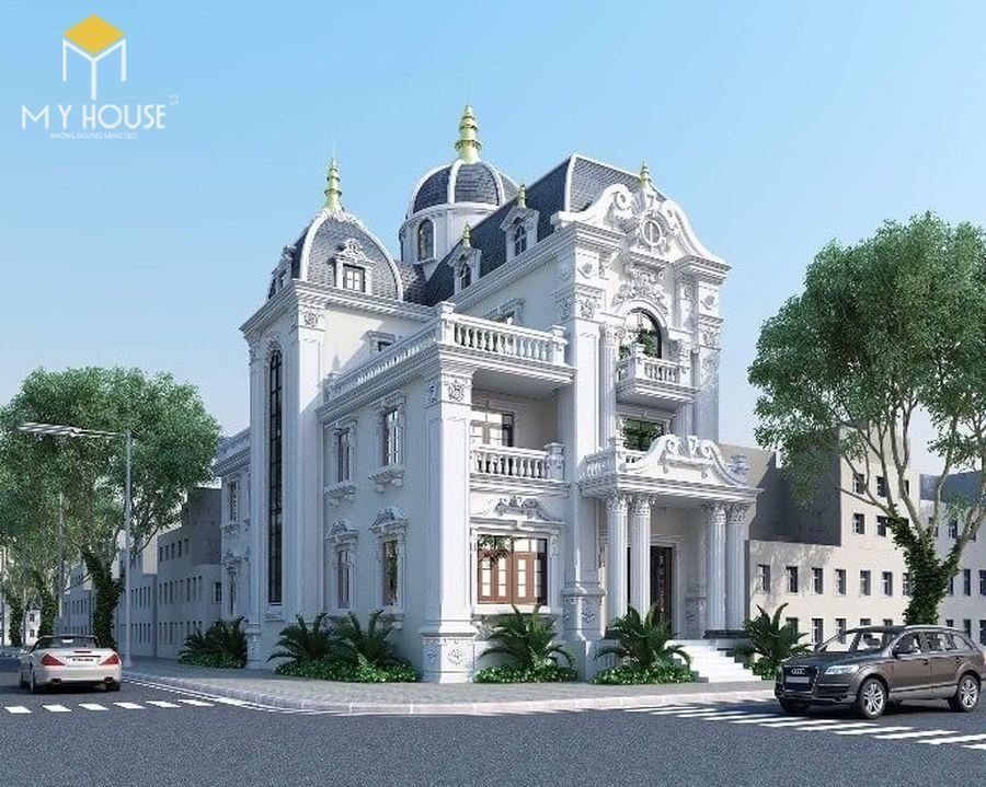 Thiết kế lâu đài dinh thự đẹp - Mẫu 8