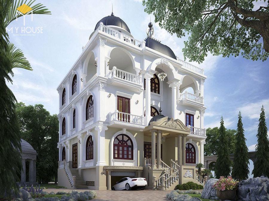 Thiết kế lâu đài dinh thự đẹp - Mẫu 6