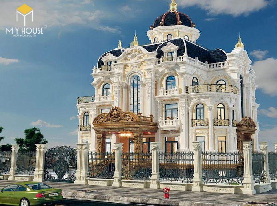 Thiết kế lâu đài dinh thự đẹp - Mẫu 4
