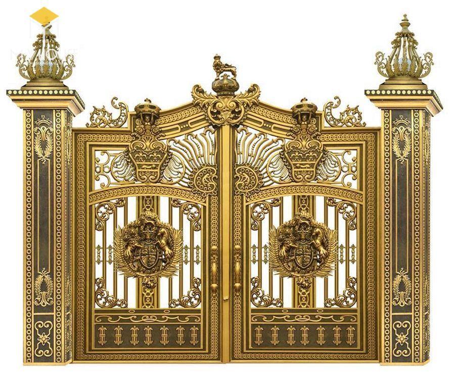 Cổng biệt thự lâu đài sang trọng ấn tượng - Mẫu 4