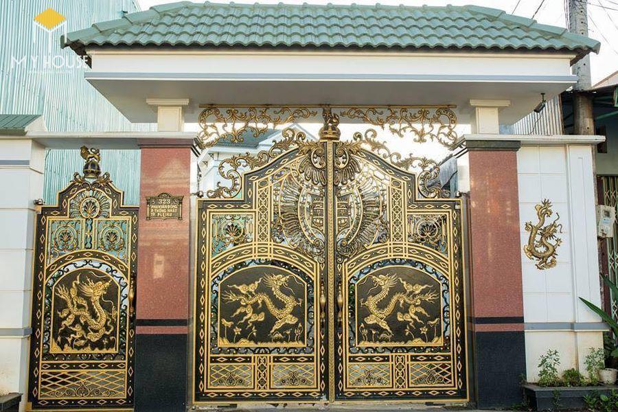 Mẫu cổng lâu đài biệt thự hiện đại