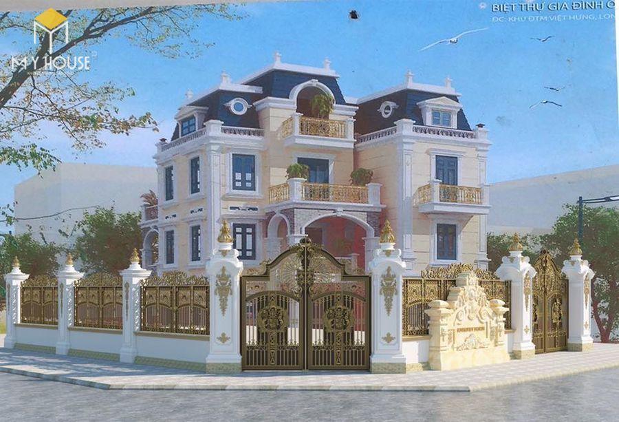 Mẫu cổng lâu đài cổ điển