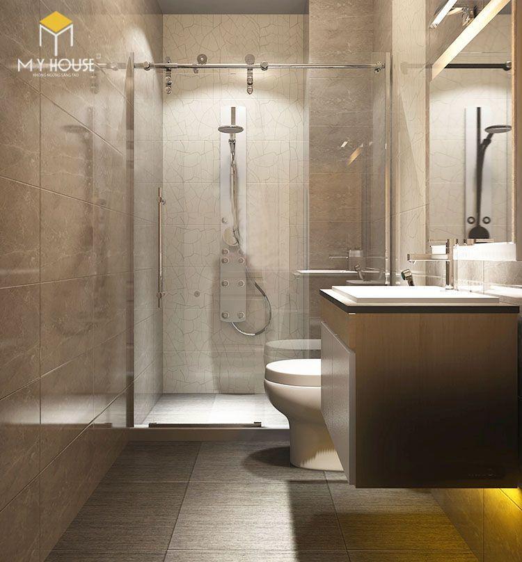 Nội thất phòng tắm đơn giản tinh tế