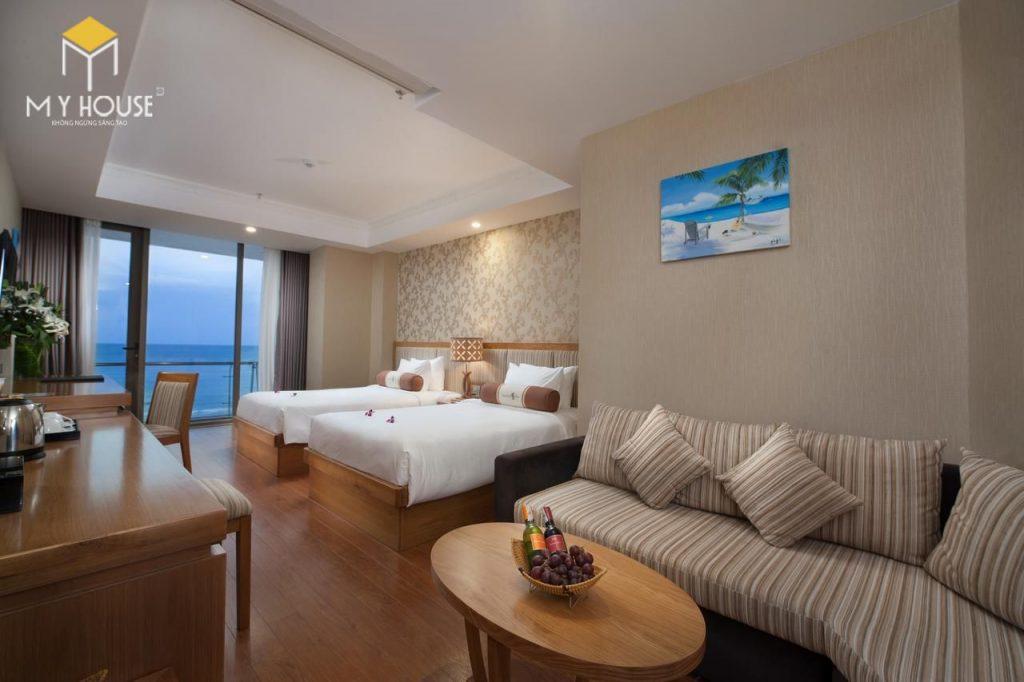 mẫu thiết kế phòng ngủ khách sạn 5x20m2 vô cùng sang trọng