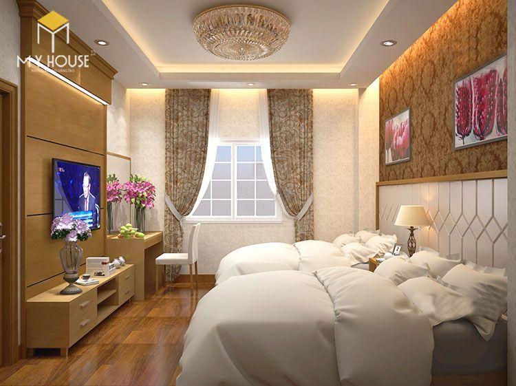 Đối với khách sạn mini khu vực phòng ngủ sẽ chiếm phần lớn diện tích mặt bằng