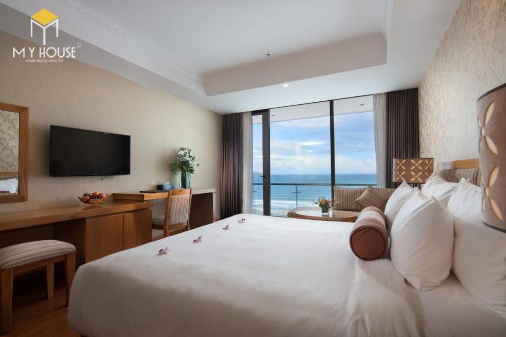 Thiết kế nội thất phòng khách sạn hiện đại 5x20m2