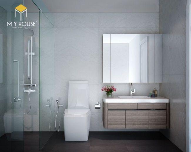 Phòng wc đơn giản hiện đại