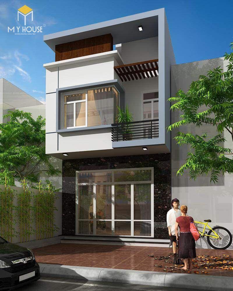 Nhà phố 2 tầng hiện đại - Mẫu 7