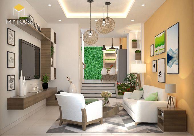 Thiết kế nội thất phòng khách - View 1
