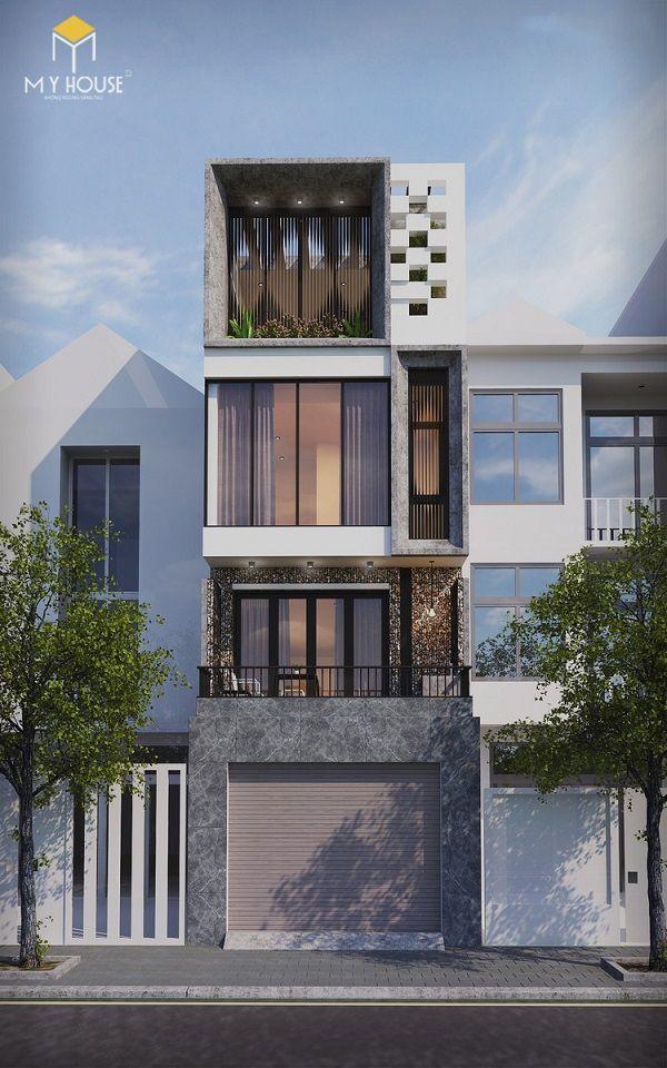 Nhà phố 4 tầng hiện đại - Mẫu 7