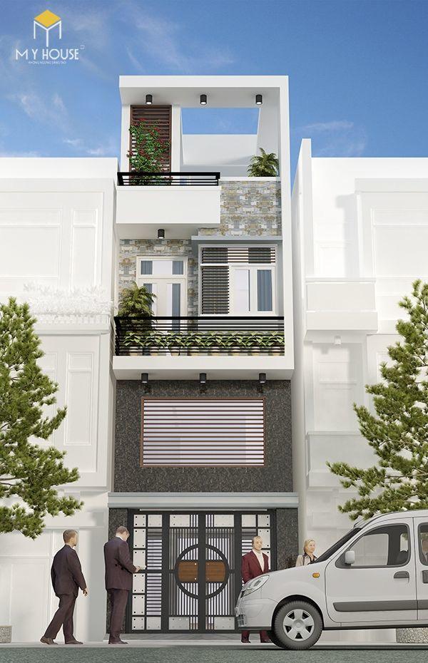 Nhà phố 4 tầng hiện đại - Mẫu 8