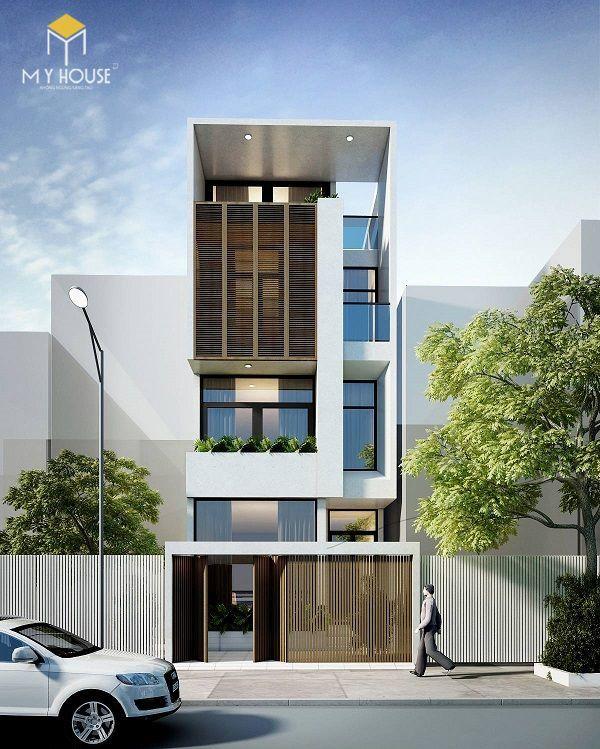 Nhà phố 4 tầng hiện đại - Mẫu 3