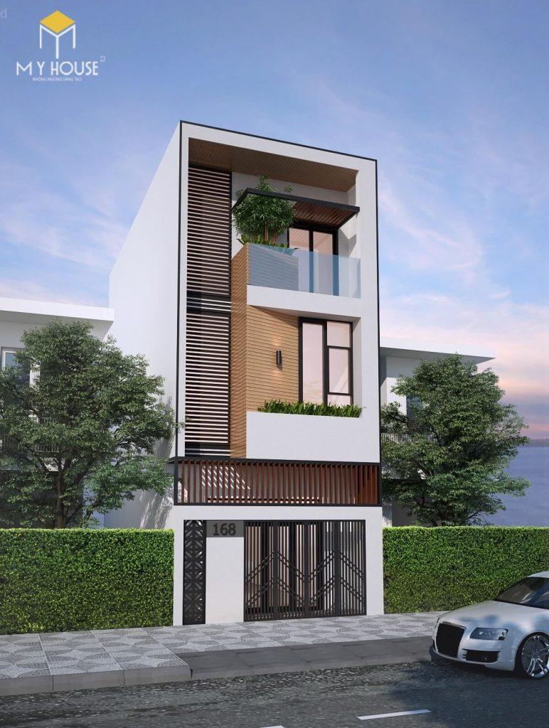 Thiết kế nhà phố 3 tầng hiện đại - Mẫu 2