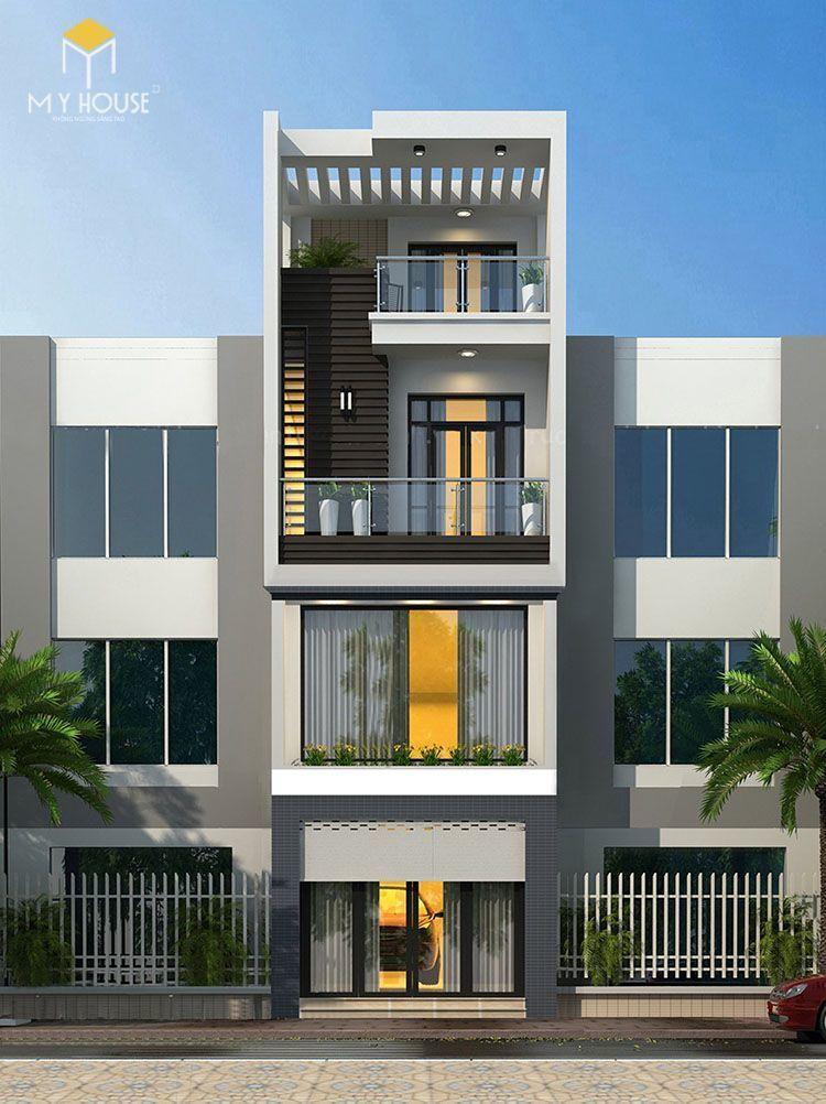 Mẫu thiết kế 4 tầng hiện đại - View 1