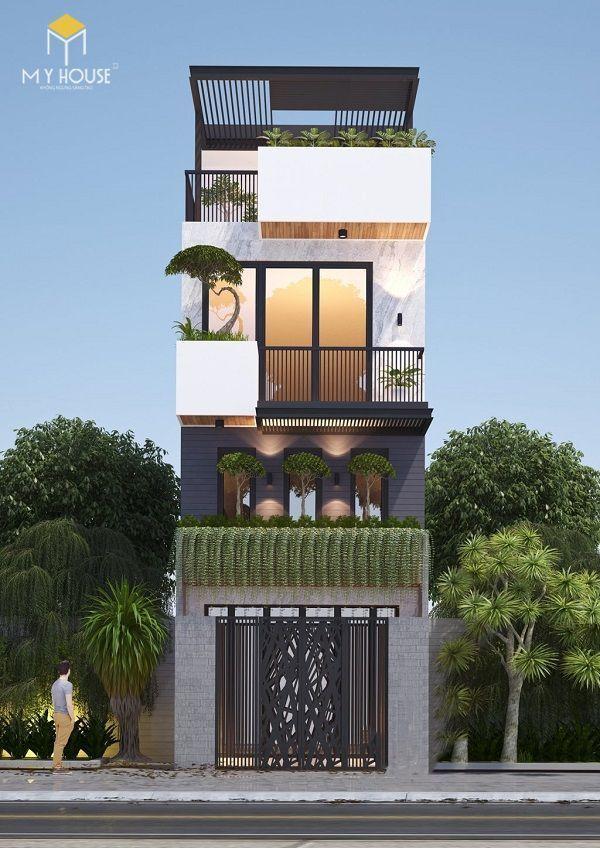 Mẫu thiết kế 4 tầng hiện đại - View 2