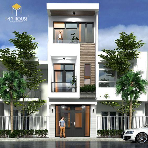 Thiết kế nhà phố 3 tầng hiện đại - Mẫu 1