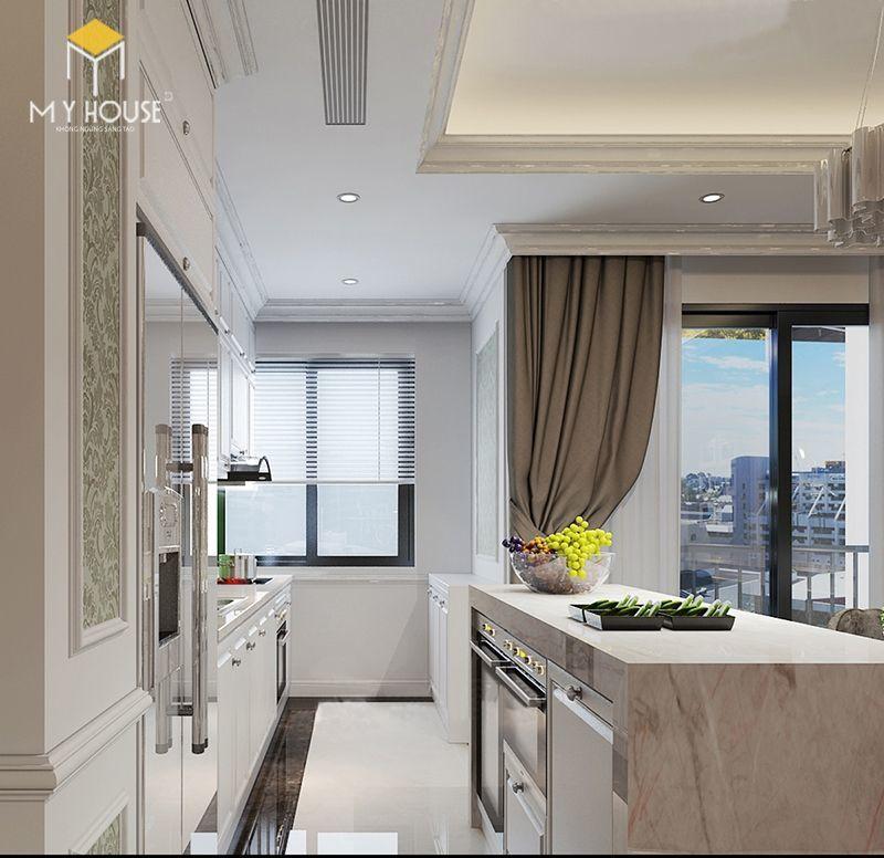 Thiết kế nội thất phòng bếp căn hộ 160m2 - View 1