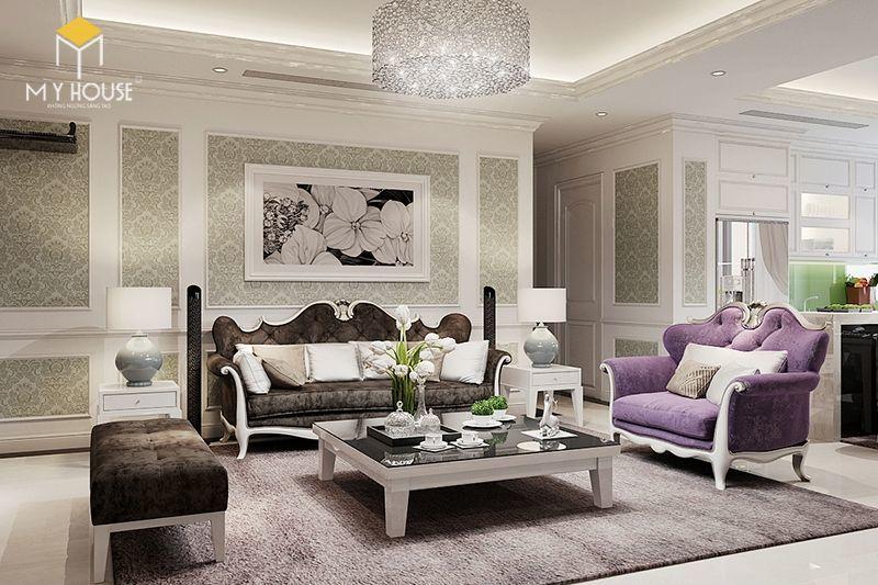 Thiết kế nội thất phòng khách căn hộ 160m2 - View 1
